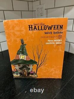 NIB Dept 56 Three Witches Cauldron Haunt SnowVillage Halloween Witch Hollow RARE