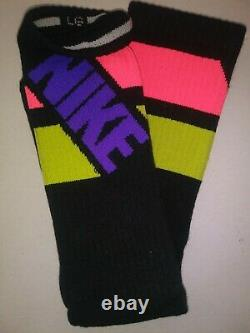 NIKE 3 Pack DRI FIT Cotton Cushioned Crew Socks RARE Colorway NEW