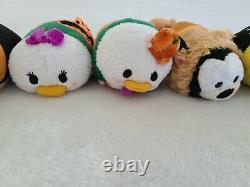 NWT Disney Japan Halloween 2014 Tsum Tsum Mini Plush 3.5 complete set of 8 rare