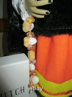 NWT Large, 23 Standing HALLOWEEN Candy Corn Witch Doll Sign, Broom, Hat, Rare