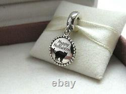 NWT Pandora Black Cat Happy Halloween Charm ENG791169 56 RARE and RETIRED