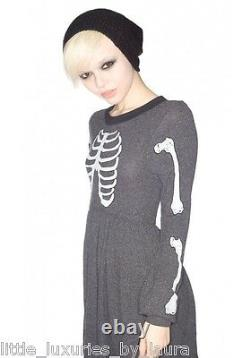 NWT WILDFOX COUTURE Skeleton Babydoll Dress Halloween Small S VERY RARE