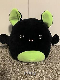 New Large 12 Squishmallow Bart Green Black Bat Plush Halloween limited RARE