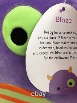New SQUISHMALLOW Halloween Bat Monster BLAZE 8 Plush Washable RARE