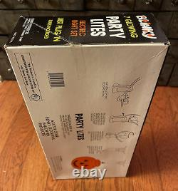 New Sealed Vintage 1988 Blinky Party Lights Pumpkin Halloween Blow Mold RARE