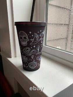 New Starbucks 2019 Halloween Skull Grande Tumbler Plum / Purple Rare HTF