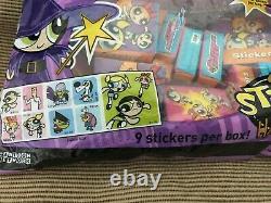 New Vintage 2001 Mello Smello PowerPuff Girls Stickers Box Halloween Treat RARE