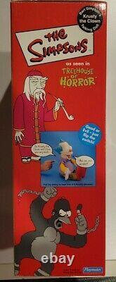 Playmates Simpsons Treehouse of Horror Talking Krusty the Clown Doll RARE NIB