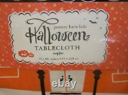 Pottery Barn Kids Halloween 2012 Spooky Town 70 X 90 Tablecloth RARE NEW