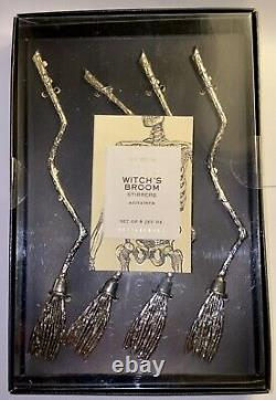 Pottery Barn Witchs BroomDrink Stirrers Very Rare HTF Sealed New