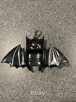 RARE Bath & Body Works Halloween Black Bat Glitter Magnetic Pocket Bac Holder