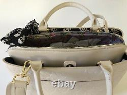 RARE Betsey Johnson Embossed Skull Handbag NWT