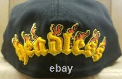 RARE New Era 59Fifty Flaming Pumpkin Baseball hat Halloween Edition Fitted 7 1/2