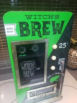 Rae Dunn green witches brew cabinet coffee rare usa import farmhouse Halloween