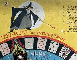 Rare Antique 1926 WITZI WITS Fortune Teller Game Vintage Halloween Collectible