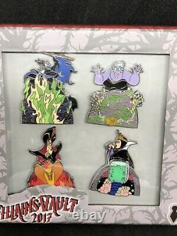 Rare Disney DLR Pin LE 200 Villains Vault Transformation Box Set