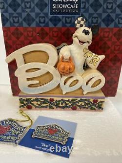 Rare Jim Shore 4033276 Disney Halloween Mickey Mouse BOO Ghost Figurine NEw
