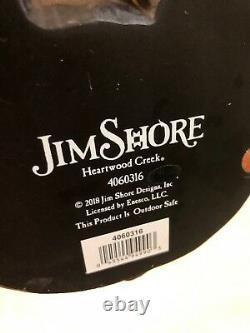 Rare Jim Shore Black Cat Witch Hat Halloween Crow Lg 19.5 NIB #489/3000