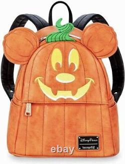 Rare Loungefly Disney Parks Halloween Pumpkin Mickey Backpack BNWT