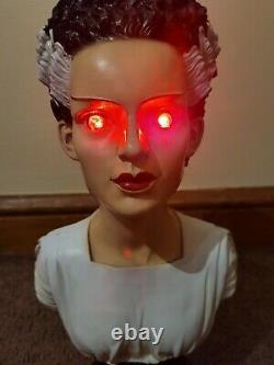 Rare Monster Bride Bust Bride of Frankenstein Halloween Decor Goth Decor