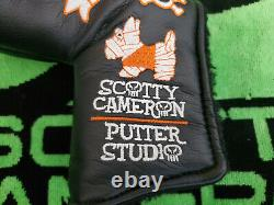 Rare Scotty Cameron Halloween Skull And Bones Putter head cover Blade headcover
