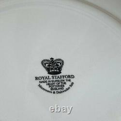 Royal Stafford Made In England Halloween Haunted House 11 Dinner Plates 4 RARE