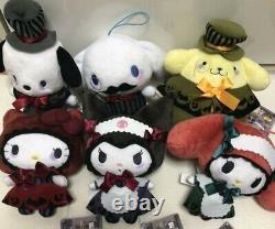 SANRIO Plush Mascot Set of 6 Spooky night Halloween 2019 Gift Rare Kitty Kuromi