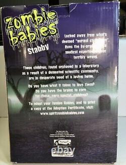 STABBY Zombie Baby Teddy Bear RARE Halloween Prop 2012 Gemmy Spirit Halloween