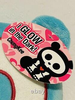 Skelanimals ChungKee the Panda 9 Plush Teal Blue Glow in the Dark Skeleton Rare