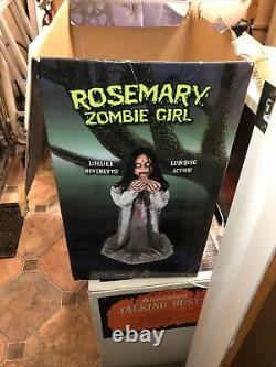 Spirit Halloween 2013 Rosemary Zombie Girl Prop Animated Rare Htf HCC Gemmy