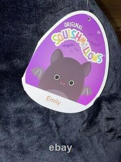 Squishmallow 24 Emily the Black Bat Halloween 2021 Plush Stuffed. RARE