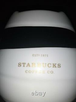 Starbucks China IMPORT 2020 Halloween Mummy Cat w Topper 12 zoz Ceramic Mug RARE