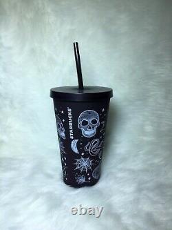 Starbucks Halloween 2019 Skull 16 Oz Tumbler Cup Purple/Black NEW SUPER RARE