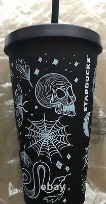 Starbucks Halloween Skull Tumbler 2019 Plum/Purple Rare NEW