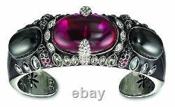 Swarovski Purple Red Bangle Nib Rare Only One On Ebay Halloween Gothic Witchy