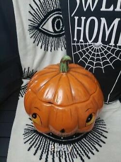 Tkmaxx Halloween Johanna Parker super rare pumpkin cookie jar 2018