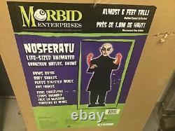 V RARE Spirit Halloween animated Nosferatu Halloween Prop Morbid Enterprises NEW