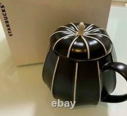 VERY RARE! STARBUCKS Mug Halloween Pumpkin Design withLid 2014 JAPAN F/S