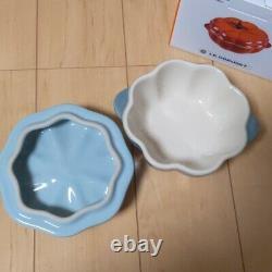 Very Rare! Le Creuset Pumpkin Cocotte Sea Salt Stoneware 2020 Halloween Unused