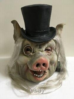Vintage Halloween Mask Posh Pig Illusive Concepts 2001 Rubber Rare New With Tag