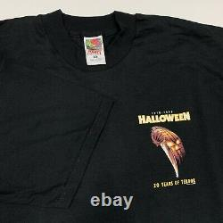 Vintage Halloween Movie T-Shirt RARE 90s Michael Myers Horror 1998 XL
