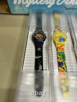 Vintage SWATCH Mystery 3 GENT Watches #GZS54 RARE HALLOWEEN SET! NIB! LAST ONE