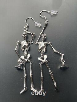 Vivienne Westwood Skeleton Earrings, Silver, Brand New! Rare! Halloween
