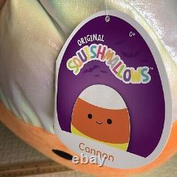 XL SQUISHMALLOW 16 Halloween 2021 CANNON Candy Corn Plush RARE NWT Rainbow