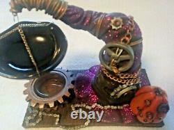 Yankee Candle Halloween RARE Steampunk Gears Hat Tart Warmer NIB 2015 Collection