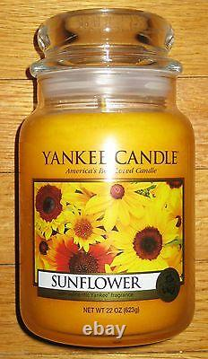 Yankee Candle SUNFLOWER 22 oz Great Summer Floral Scent! RARE